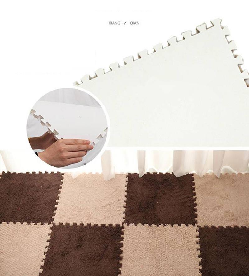 Baby Crawl Plush Carpet Floor Mat Tatami Shaggy Velveteen Play Area Rug Bedroom