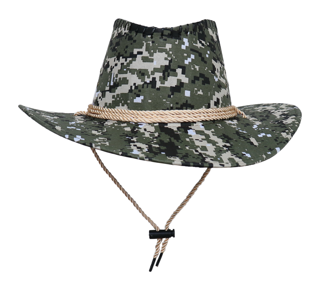 COMVIP Unisex Adult Straw Adjustable Drawstring Cowboy Hat