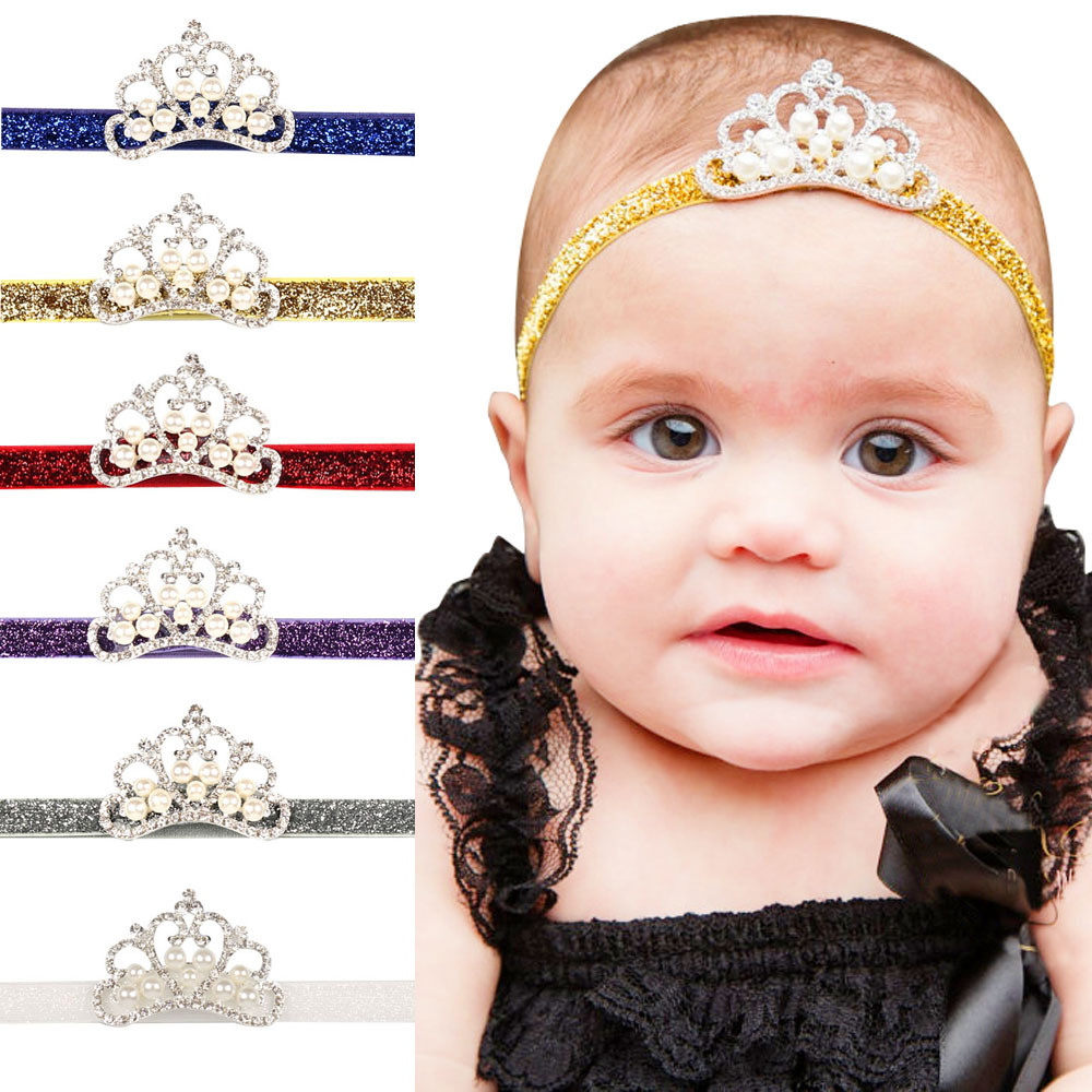 Cute Crown Headband Baby Girl Princess Hair Band for Newborn Infant Toddler Kids