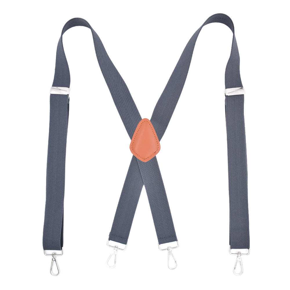 Men Dance Costume Party Pants Dapper Suspenders Braces Adjustable Belt Straps