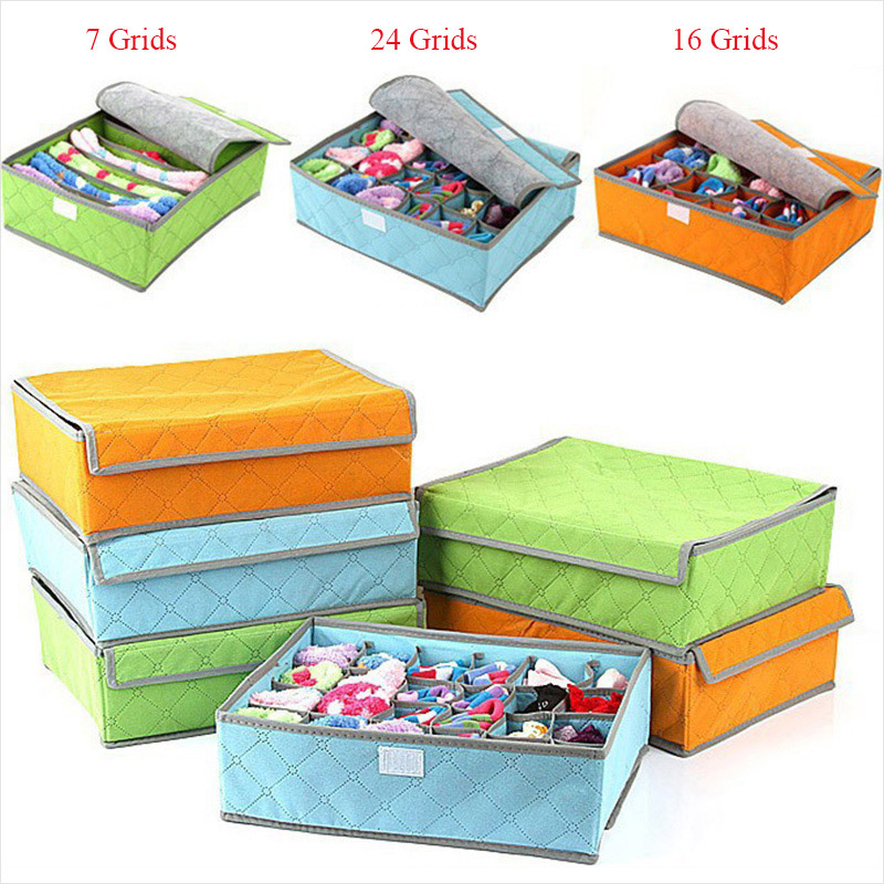 Foldable Non-Woven Underwear Bras Sock Cloth Storage Box Closet Drawer Organizer