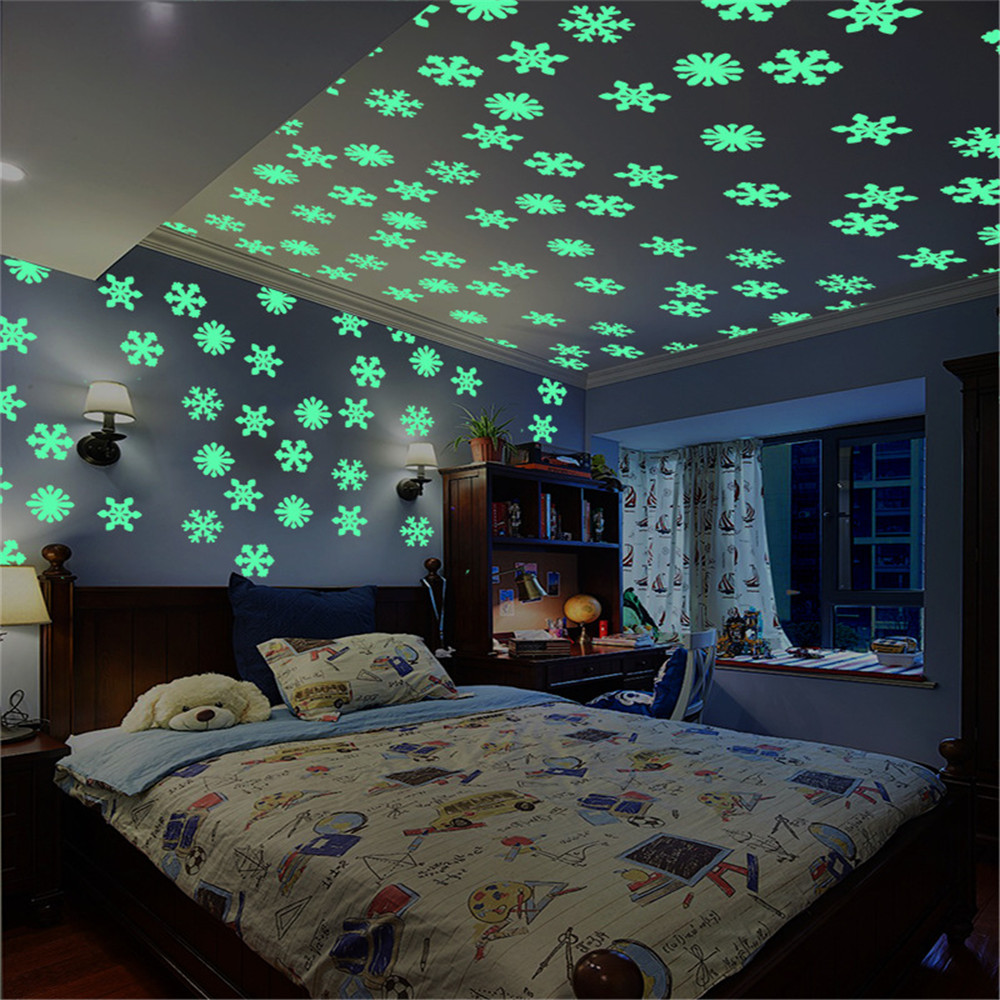 US Home 100Pc Glow In The Dark Star Wall Stickers Decals Festive Room Decoration