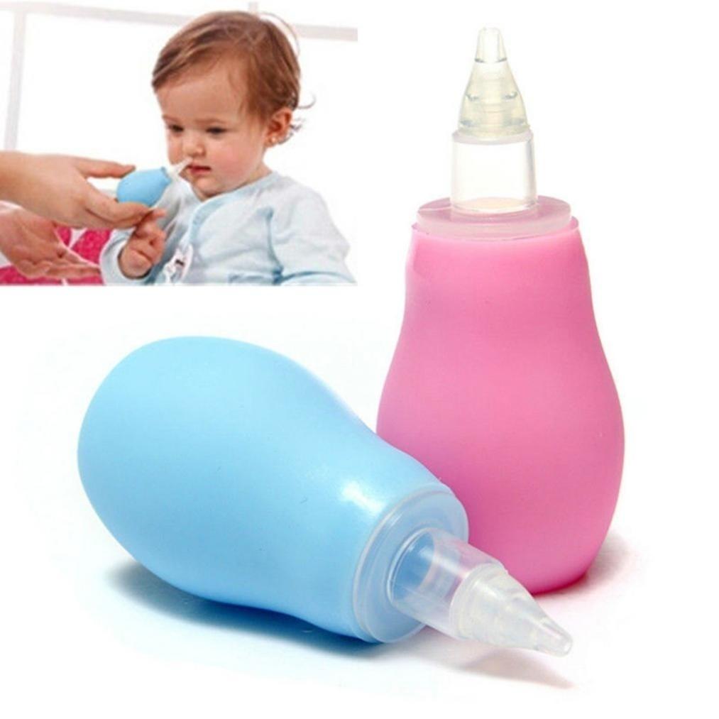 Portable Baby Toddler Nasal Aspirator Nose Mucus Cleaner Snot Sucker Pump