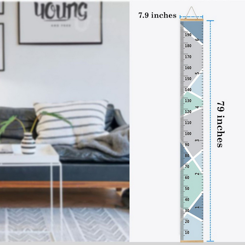 Color : #C Kids Baby Growth Chart Handing Ruler Waterproof Canvas Height Ruler Measure Height Wall Decor