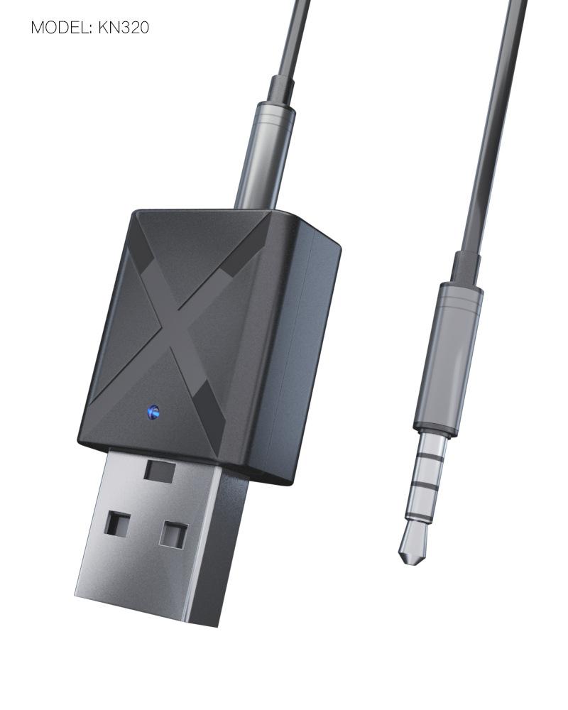 1.5m Audio Lead 3.5mm Wireless USB Mini Car Bluetooth Music Receiver Adapter