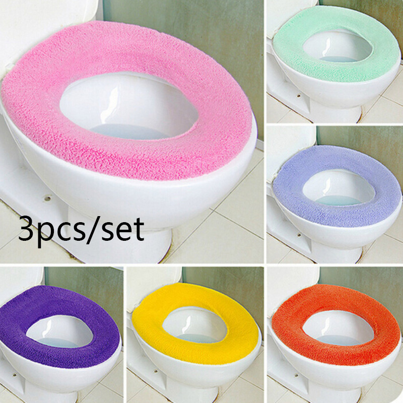 Fibers Warmer Toilet Seat Cover Closestool Accessories Bathroom Protector
