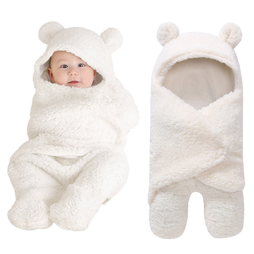 Baby Newborn Solid color Hollow Photograph Blanket Infant Sleeping Soft Blanket