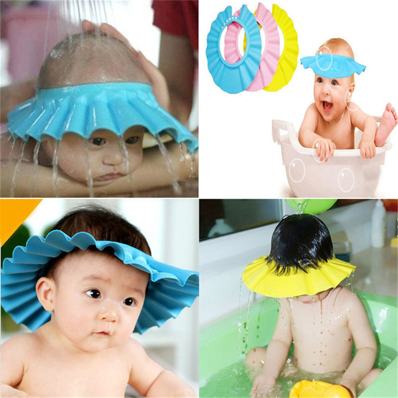 1PC Adjustable Baby Kids Cartoon Shampoo Bathing Shower Cap Hat For Baby Care /'/'