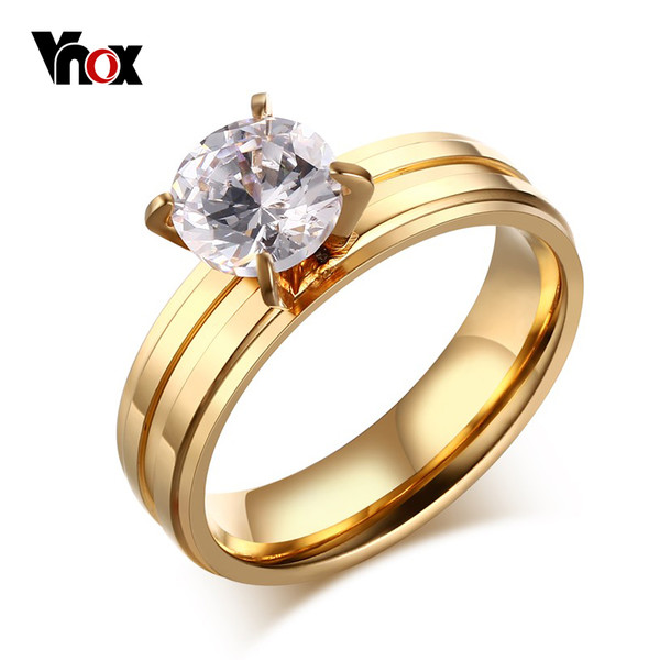 Buy Cz Engagement Ring For Women Fashion Stainless Steel Wedding