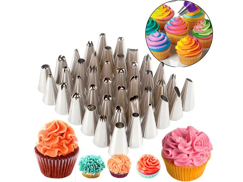 24//48Pcs Icing Piping Nozzles Tips Cake Sugarcraft Pastry Decor Baking Tools Kit